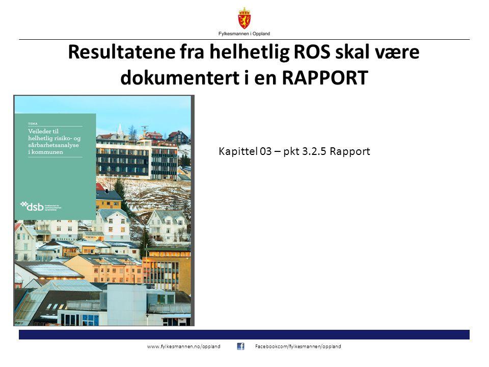 www.fylkesmannen.no/opplandFacebookcom/fylkesmannen/oppland VEDLEGG 7 FORSLAG TIL STRUKTUR PÅ RAPPORT Eksempel på oppbygging av rapport for helhetlig risiko- og sårbarhetsanalyse: 1.Oppsummering og konklusjon.