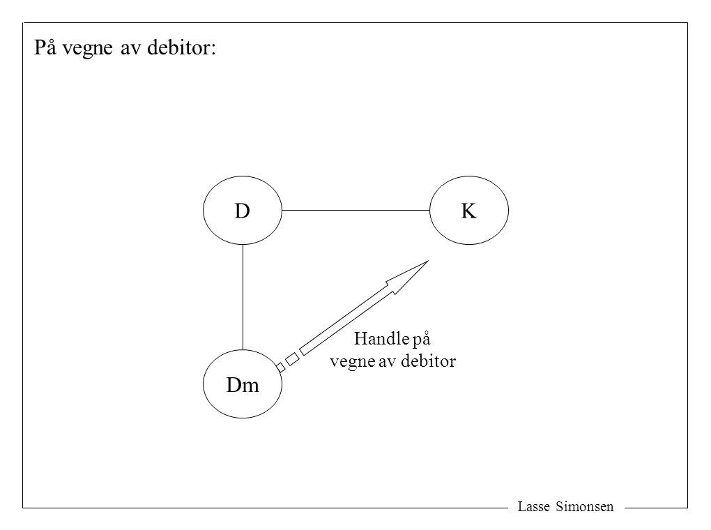 Lasse Simonsen På vegne av debitor: D Dm K Handle på vegne av debitor