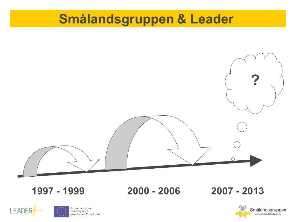 Smålandsgruppen & Leader Europeiska Unionen Utvecklings- och garantifonden för jordbruket The Board