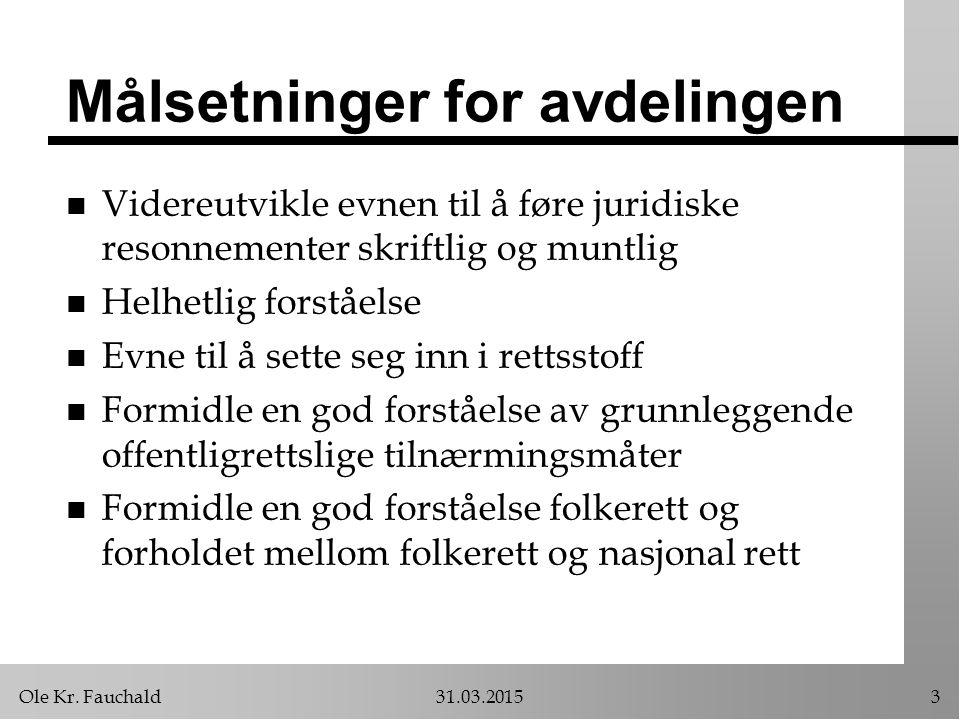 Ole Kr.Fauchald31.03.201534 Legalitetsprinsippet n Hva er legalitetsprinsippet.