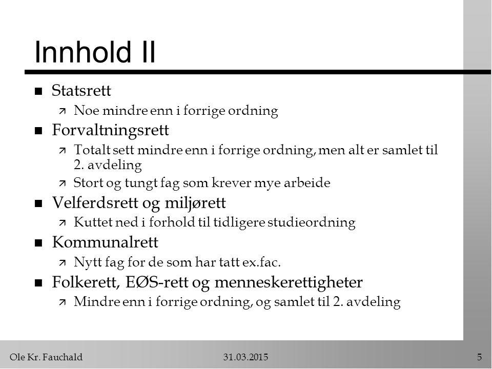 Ole Kr.Fauchald31.03.201516 Lovgivning om innhold n Utgangspunkt: ä Avtalefrihet vs.