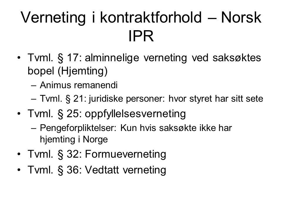 Verneting i kontraktforhold – Norsk IPR Tvml.
