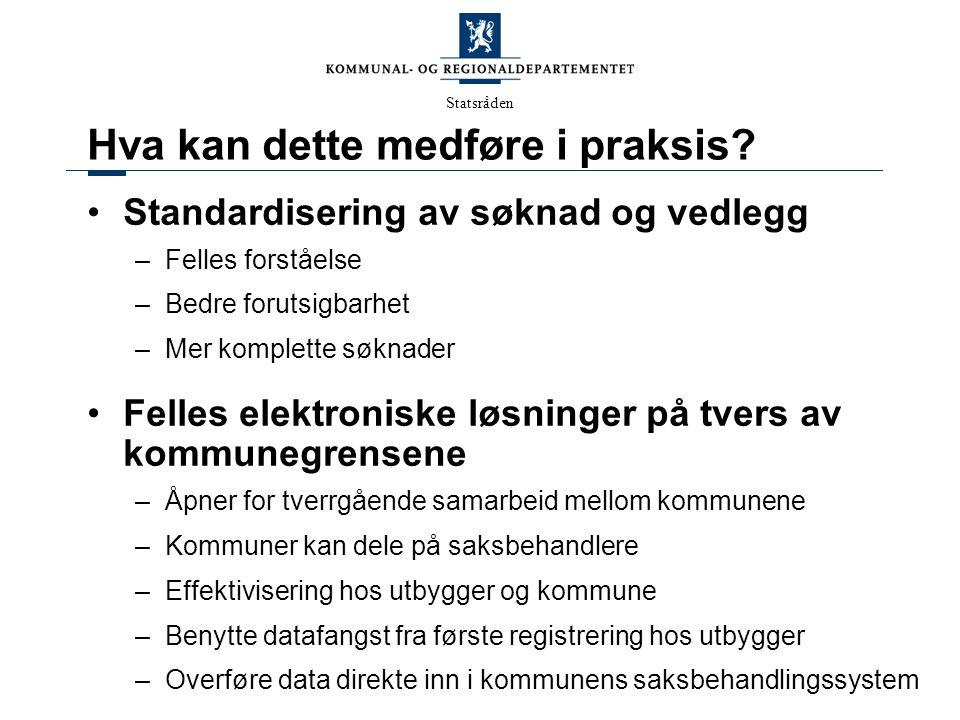 Statsråden Hva er ByggSøk .