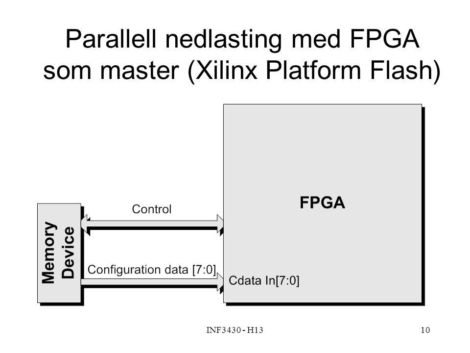 INF3430 - H1310 Parallell nedlasting med FPGA som master (Xilinx Platform Flash)