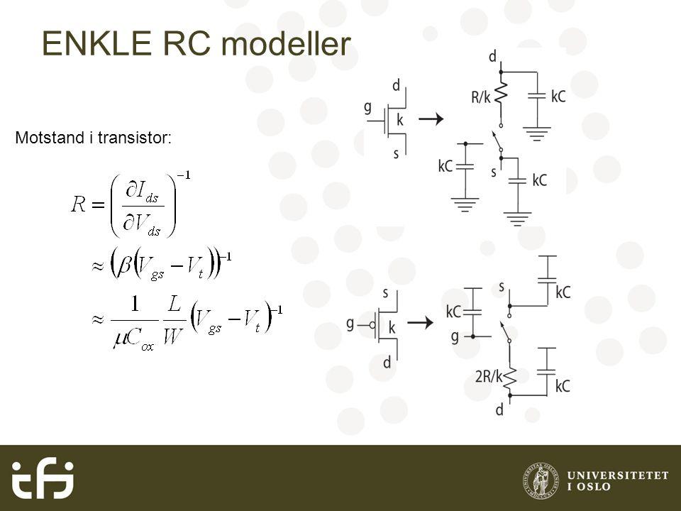ENKLE RC modeller Motstand i transistor: