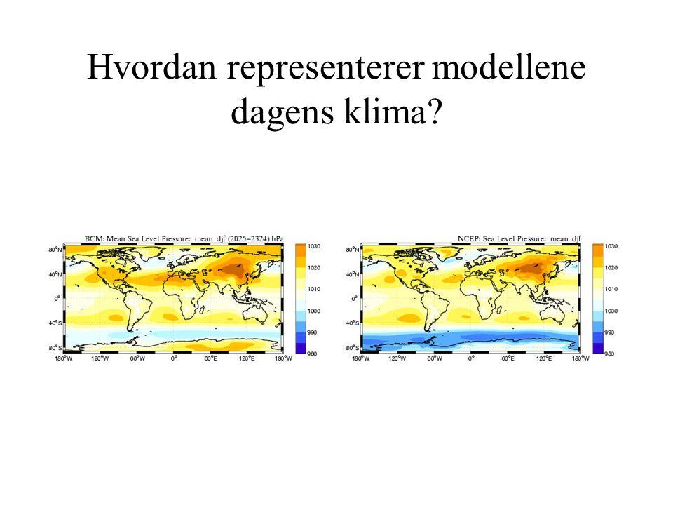 Hvordan representerer modellene dagens klima?