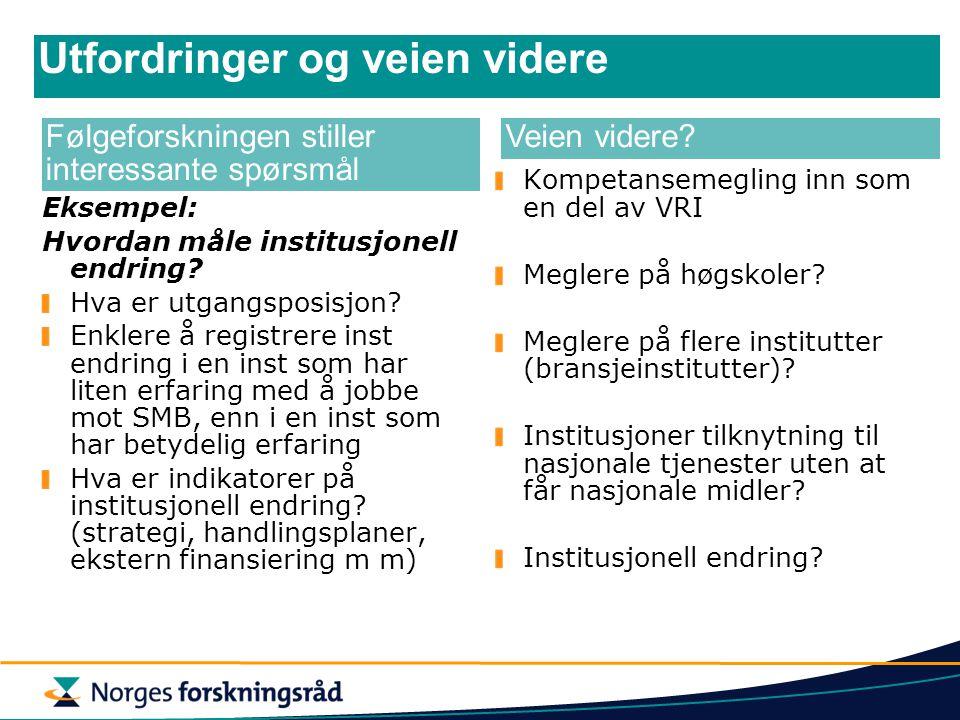 Institusjonell endring Eksempel: Hvordan måle institusjonell endring? Hva er utgangsposisjon? Enklere å registrere inst endring i en inst som har lite