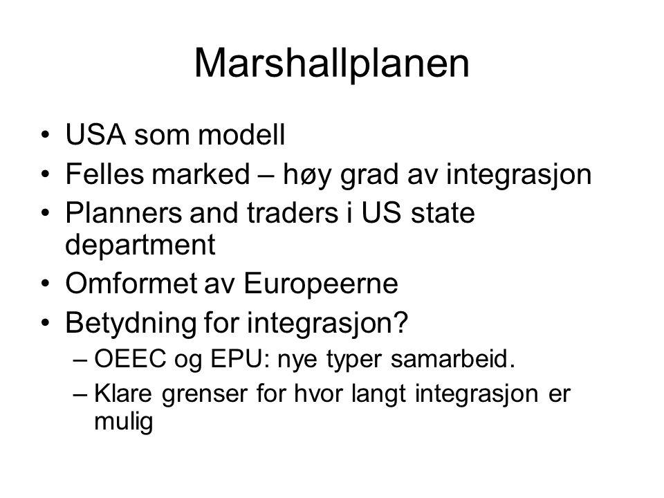 Schuman plan, EDC og re-launch Tysklandsspørsmålet.