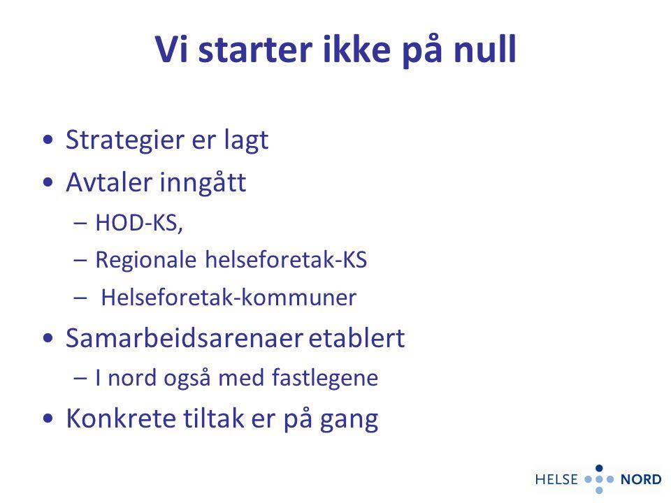 Samhandling i nord må tilpasses våre spesielle geografiske utfordringer 43 % av kommunene i Nord-Norge har < 2000 innb.