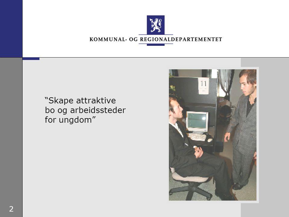 """2 """"Skape attraktive bo og arbeidssteder for ungdom"""""""