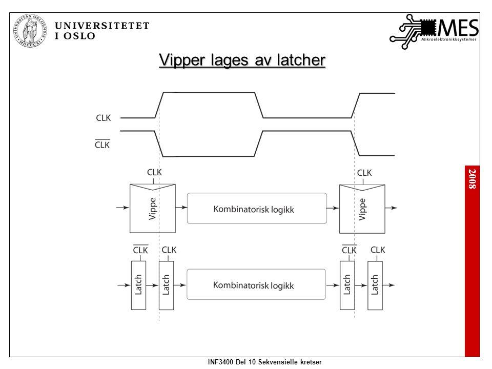 2008 INF3400 Del 10 Sekvensielle kretser Vipper lages av latcher