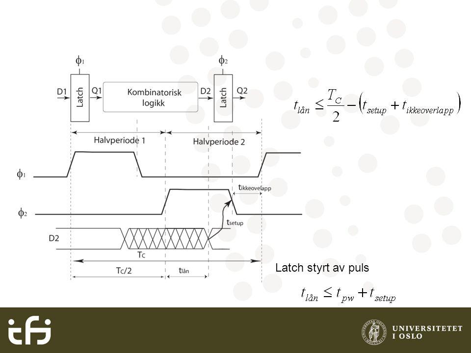 Latch styrt av puls
