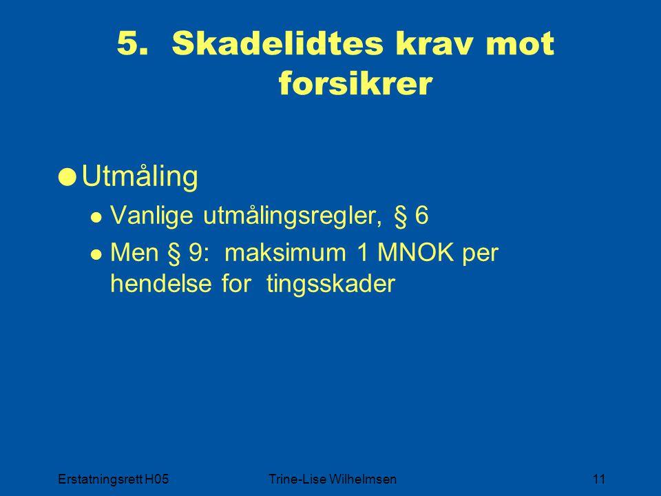 Erstatningsrett H05Trine-Lise Wilhelmsen11 5.