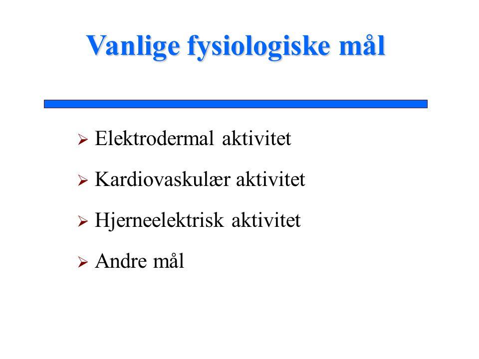 Extraversjon-Introversjon Eysenck's teori: Introverte personer kjennetegnes av høye aktivitetsnivå i hjernens retikulær- aktiveringssystemFysiologi-basertepersonlighetsdimensjoner