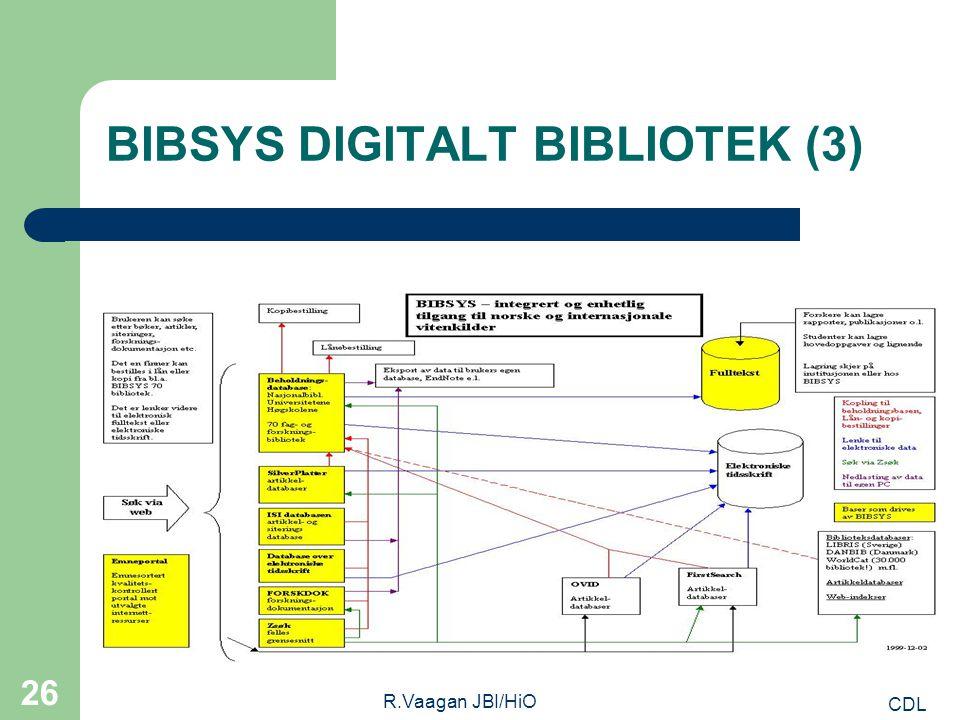 CDL R.Vaagan JBI/HiO 26 BIBSYS DIGITALT BIBLIOTEK (3)
