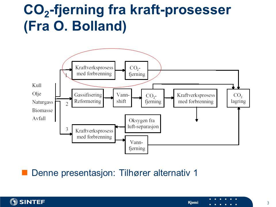 Kjemi 3 CO 2 -fjerning fra kraft-prosesser (Fra O.