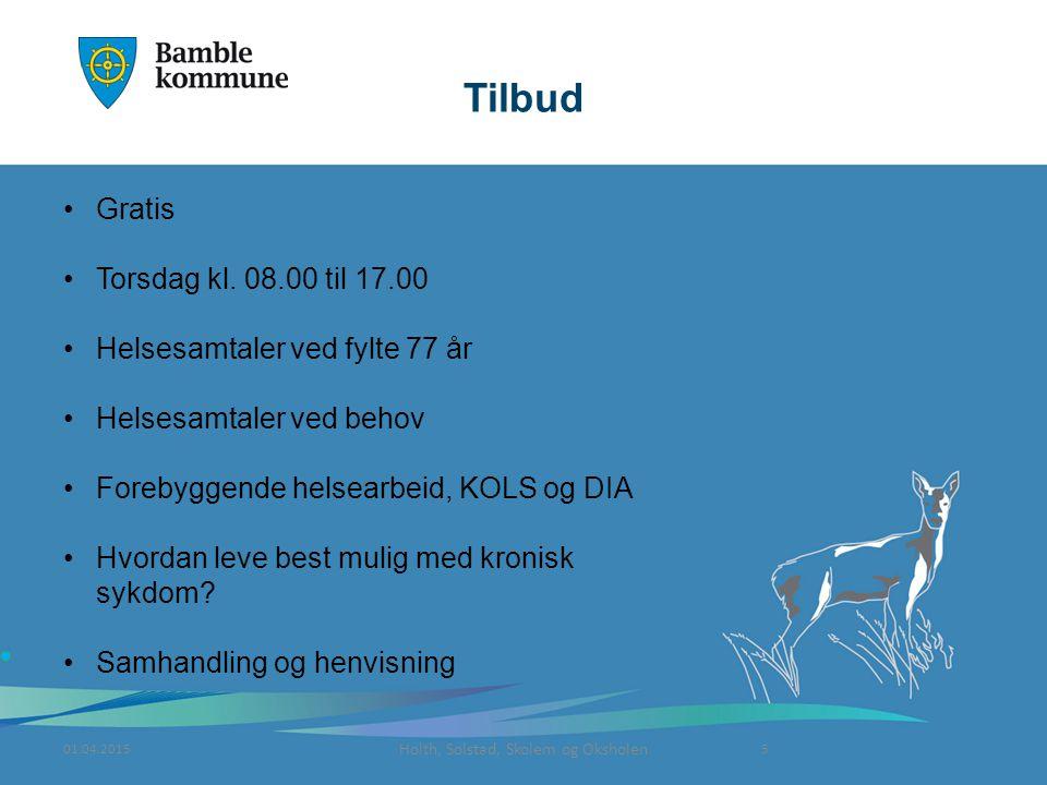 Holth, Solstad, Skolem og Oksholen Tilbud Gratis Torsdag kl.