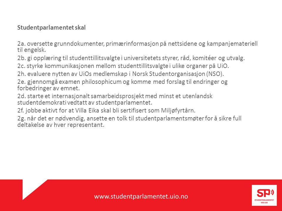 Studentparlamentet krever 1e.automatisk begrunnelse på eksamen ved hele UiO.