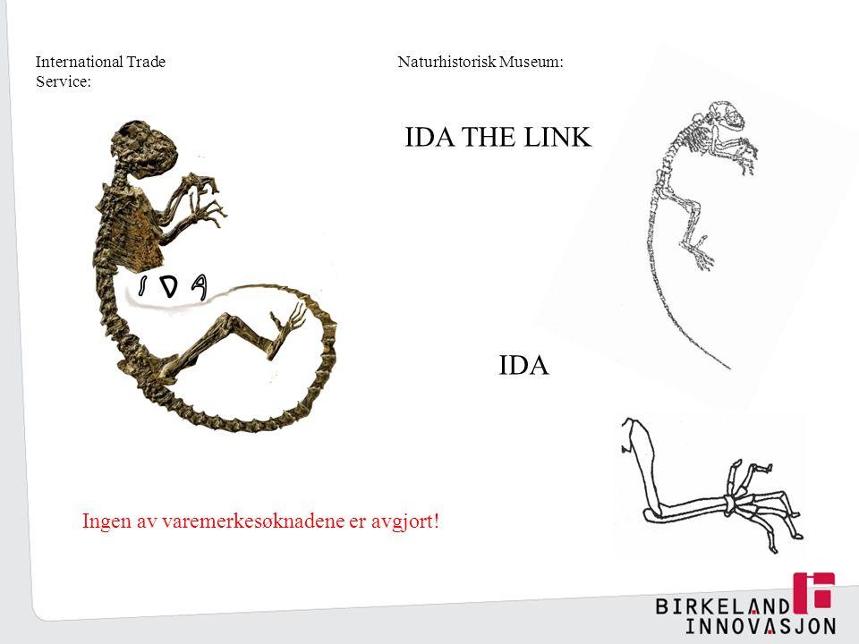 IDA THE LINK IDA International Trade Service: Naturhistorisk Museum: Ingen av varemerkesøknadene er avgjort!