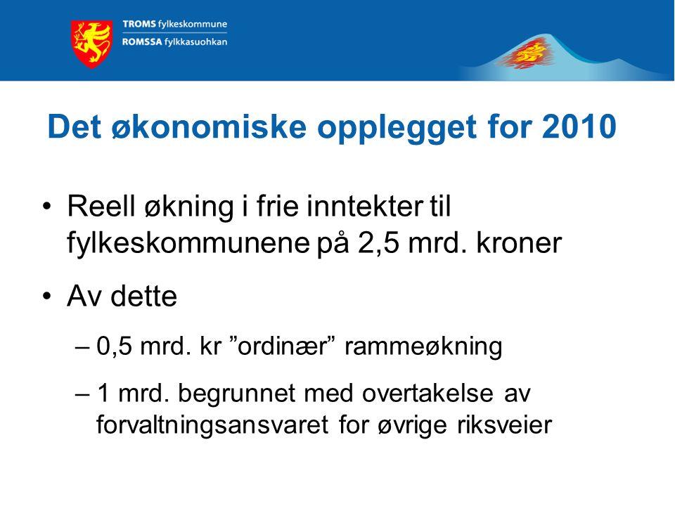 Kommuneproposisjonen 2010 Det økonomiske opplegget for 2010 Endringer i inntektssystemet for fylkeskommunene Økonomi og forvaltningsreformen
