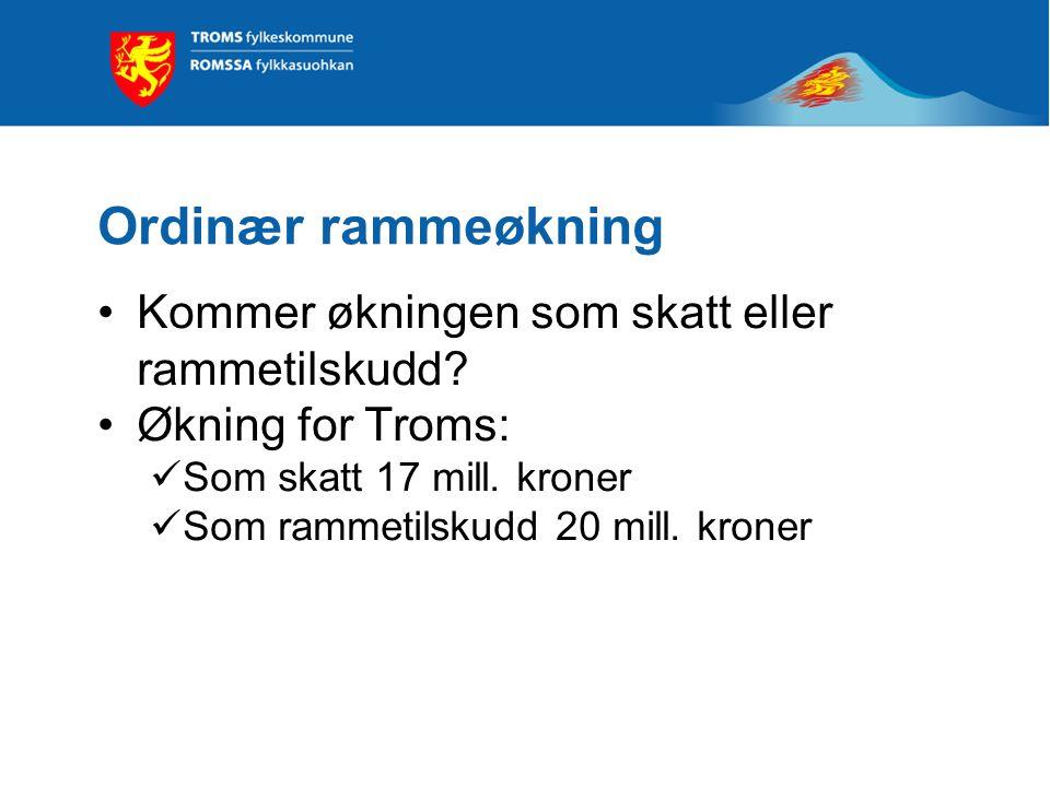 Det økonomiske opplegget for 2010 Reell økning i frie inntekter til fylkeskommunene på 2,5 mrd.