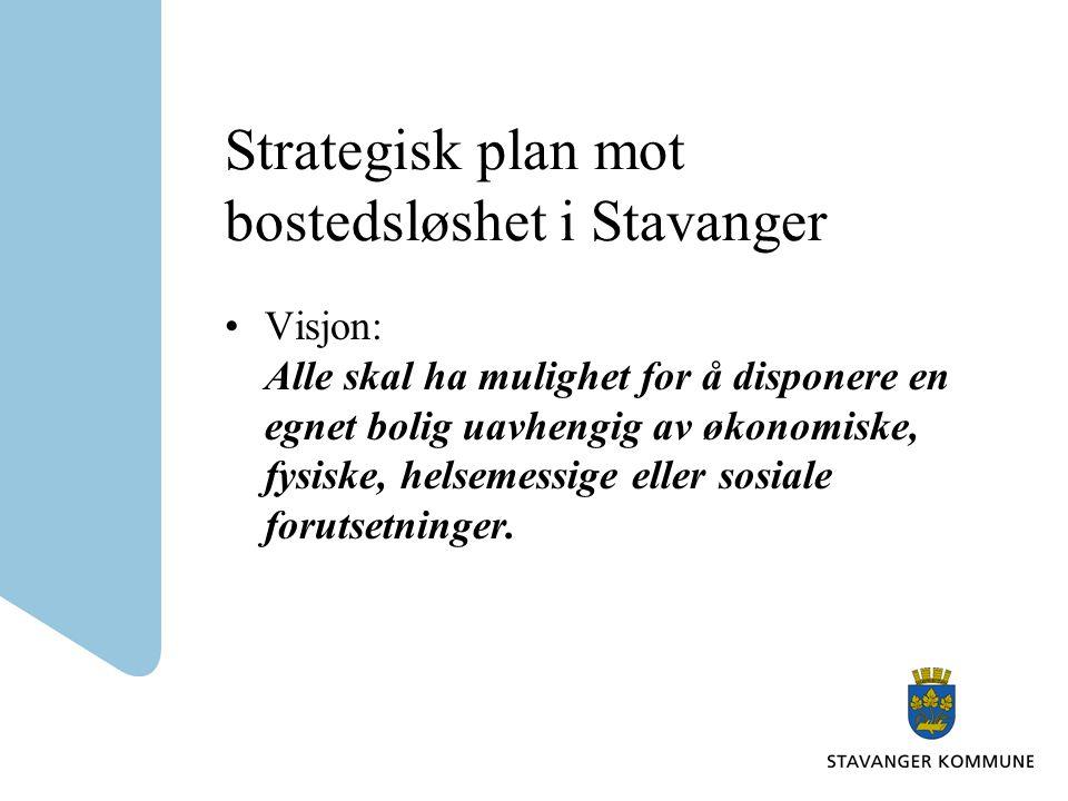 Strategisk plan mot bostedsløshet i Stavanger Visjon: Alle skal ha mulighet for å disponere en egnet bolig uavhengig av økonomiske, fysiske, helsemess