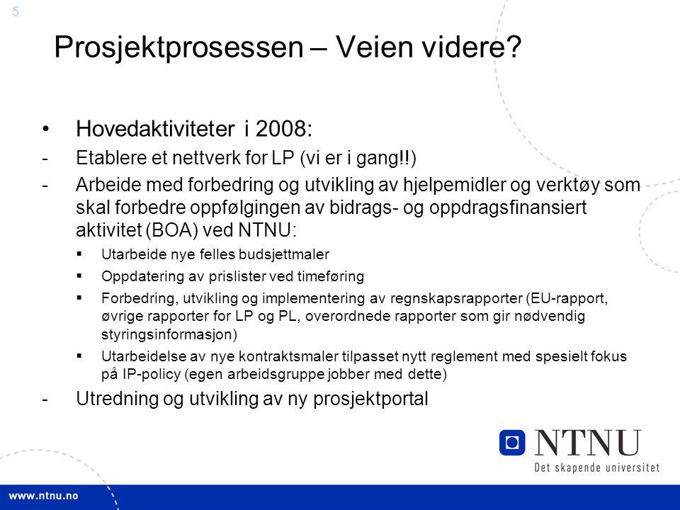 55 Prosjektprosessen – Veien videre? Hovedaktiviteter i 2008: -Etablere et nettverk for LP (vi er i gang!!) -Arbeide med forbedring og utvikling av hj