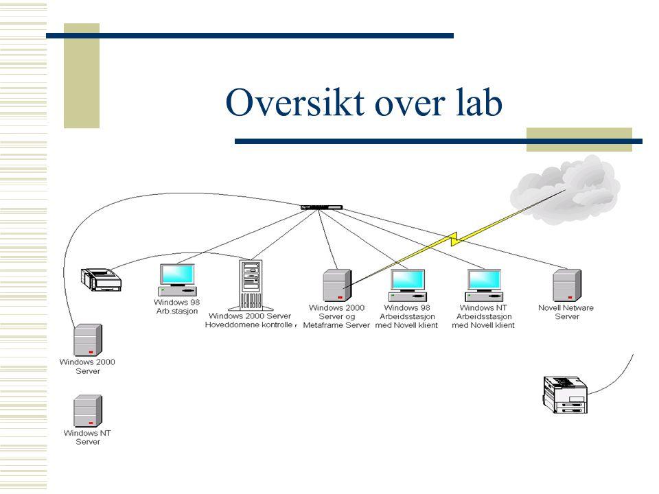 Oversikt over lab