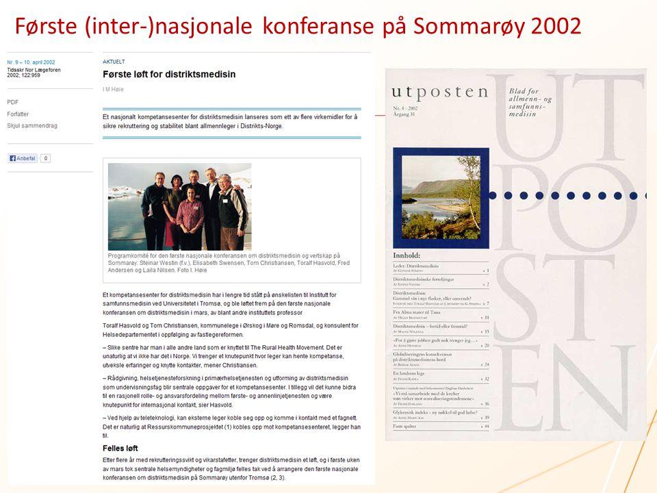Første (inter-)nasjonale konferanse på Sommarøy 2002