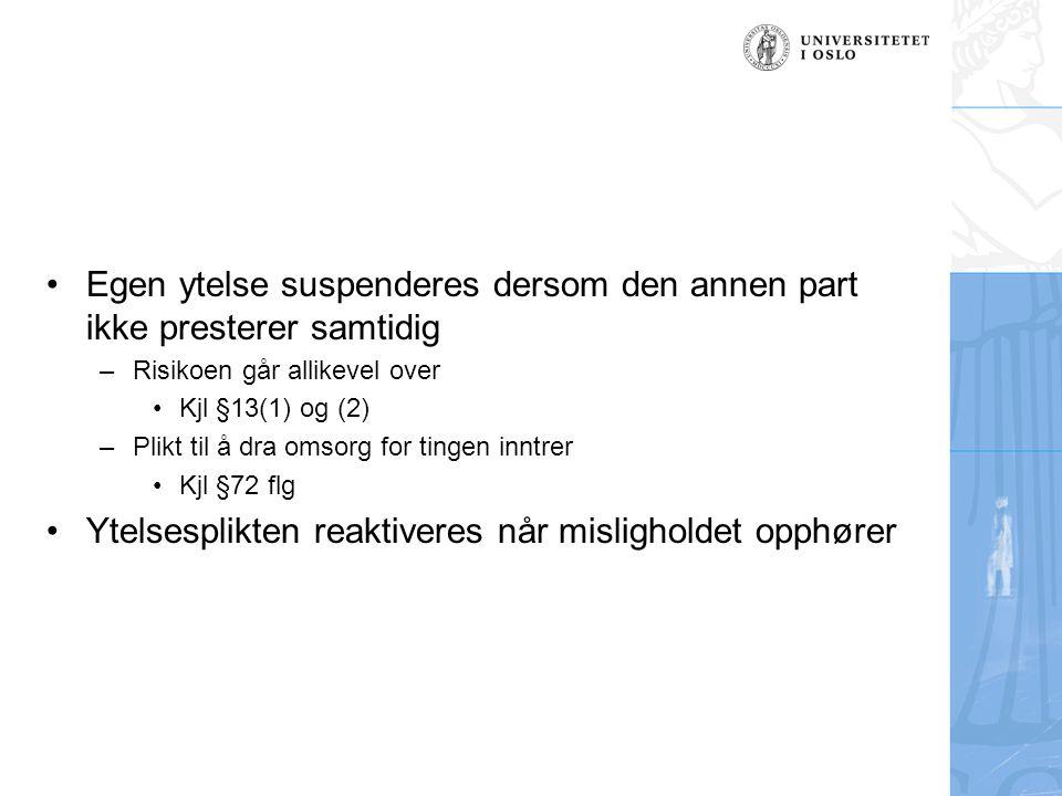 Nærmere om vilkårene (2) –Bruksverdien ikke relevant Motstridende uttalelse i forarbeidene.