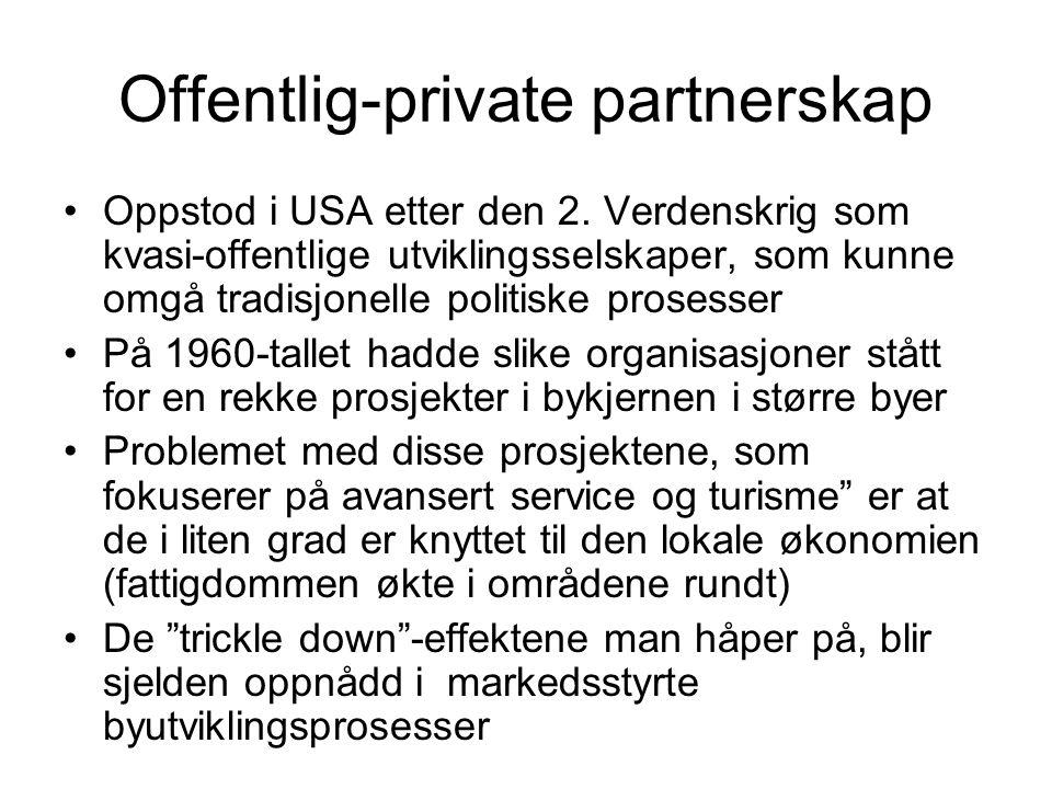 Offentlig-private partnerskap Oppstod i USA etter den 2.