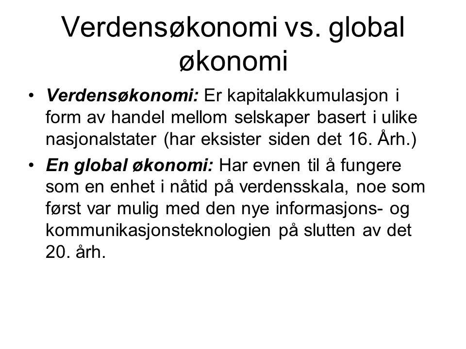 Verdensøkonomi vs.