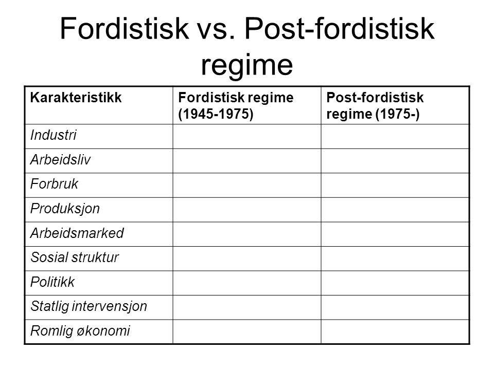 Fordistisk vs.