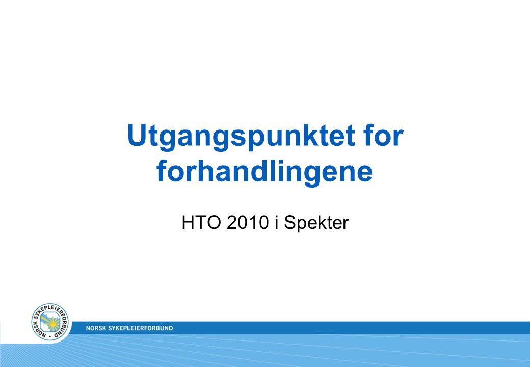 Utgangspunktet for forhandlingene HTO 2010 i Spekter