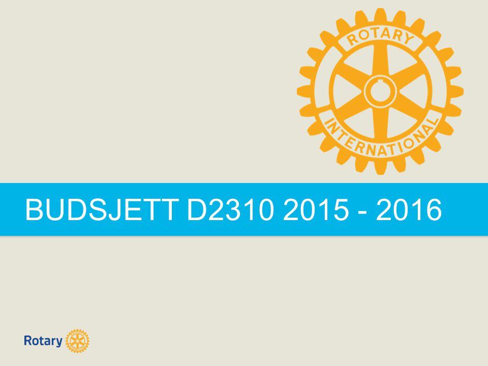 BUDSJETT D2310 2015 - 2016