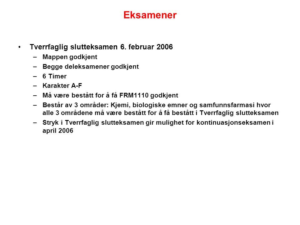 Eksamener Tverrfaglig slutteksamen 6.
