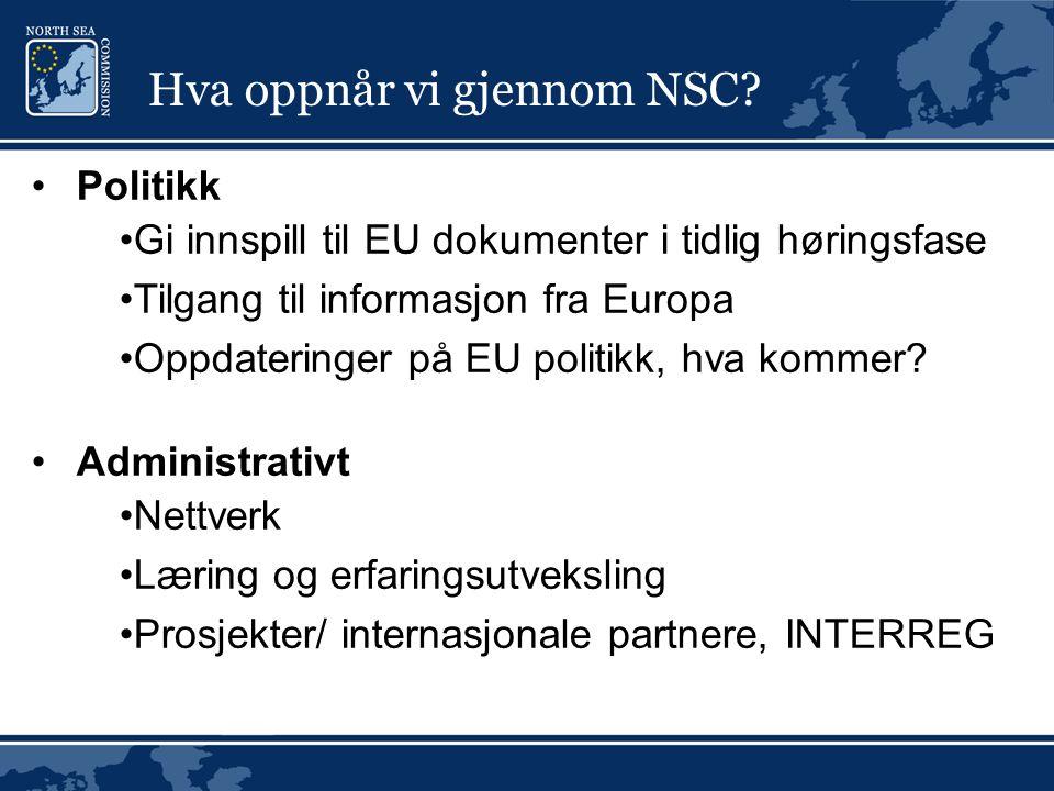 Hva oppnår vi gjennom NSC.