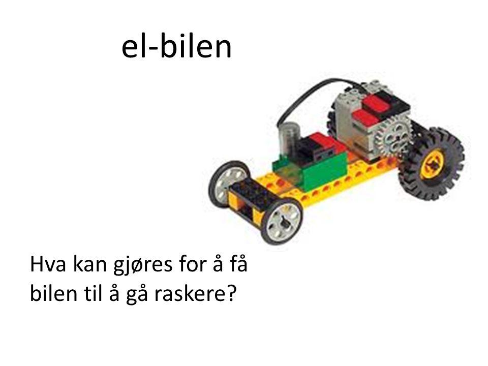 el-bilen Hva kan gjøres for å få bilen til å gå raskere?