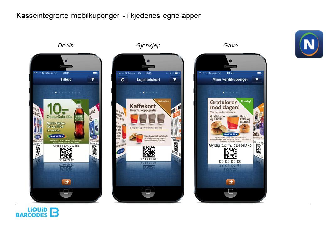 Kasseintegrerte mobilkuponger: smart kundepleie i partnerens egen distribusjon