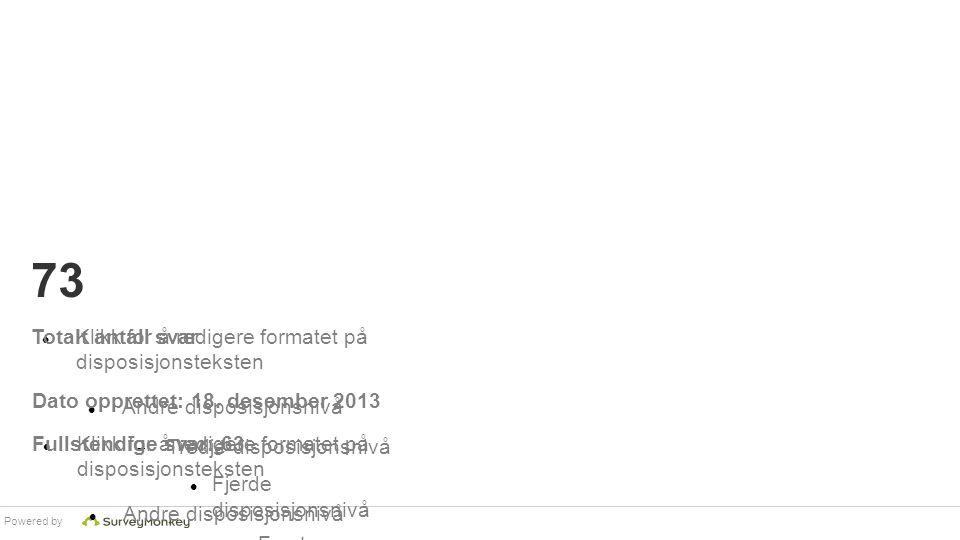 Powered by Klikk for å redigere formatet på disposisjonsteksten Andre disposisjonsnivå  Tredje disposisjonsnivå Fjerde disposisjonsnivå  Femte dispo