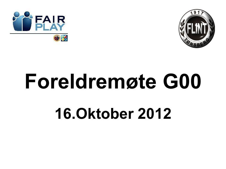 Foreldremøte G00 16.Oktober 2012