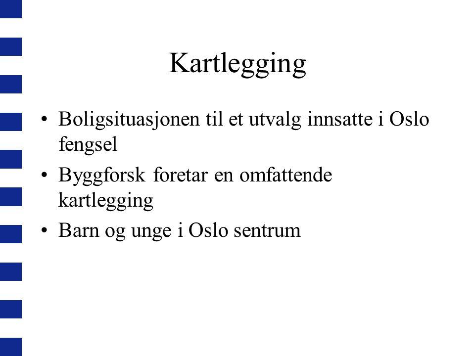 Kartlegging Boligsituasjonen til et utvalg innsatte i Oslo fengsel Byggforsk foretar en omfattende kartlegging Barn og unge i Oslo sentrum
