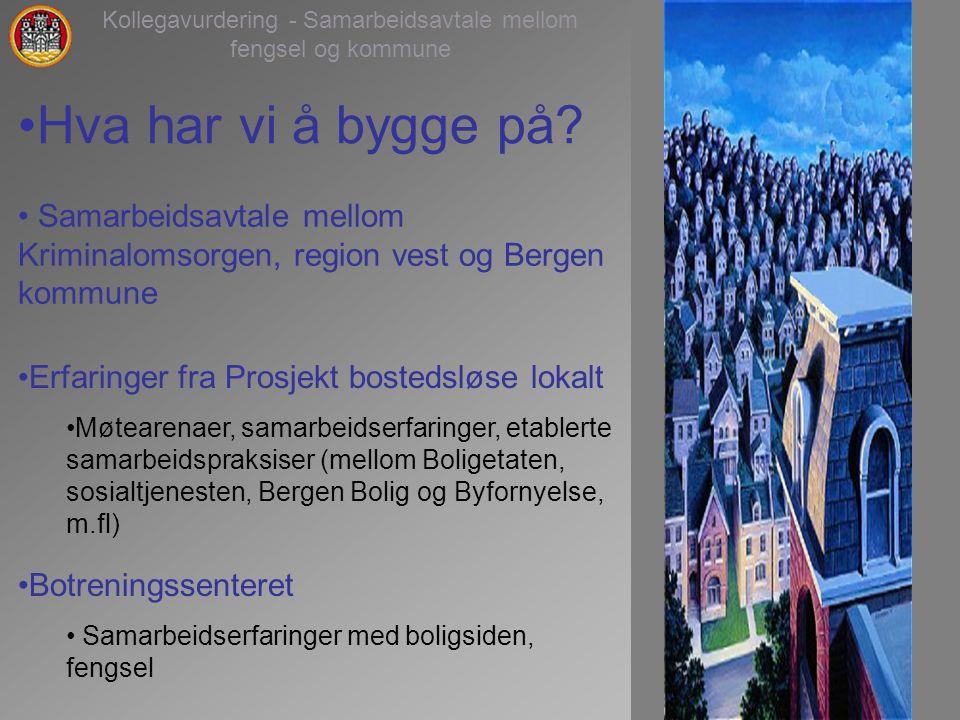 2 Kollegavurdering - Samarbeidsavtale mellom fengsel og kommune Hva har vi å bygge på.