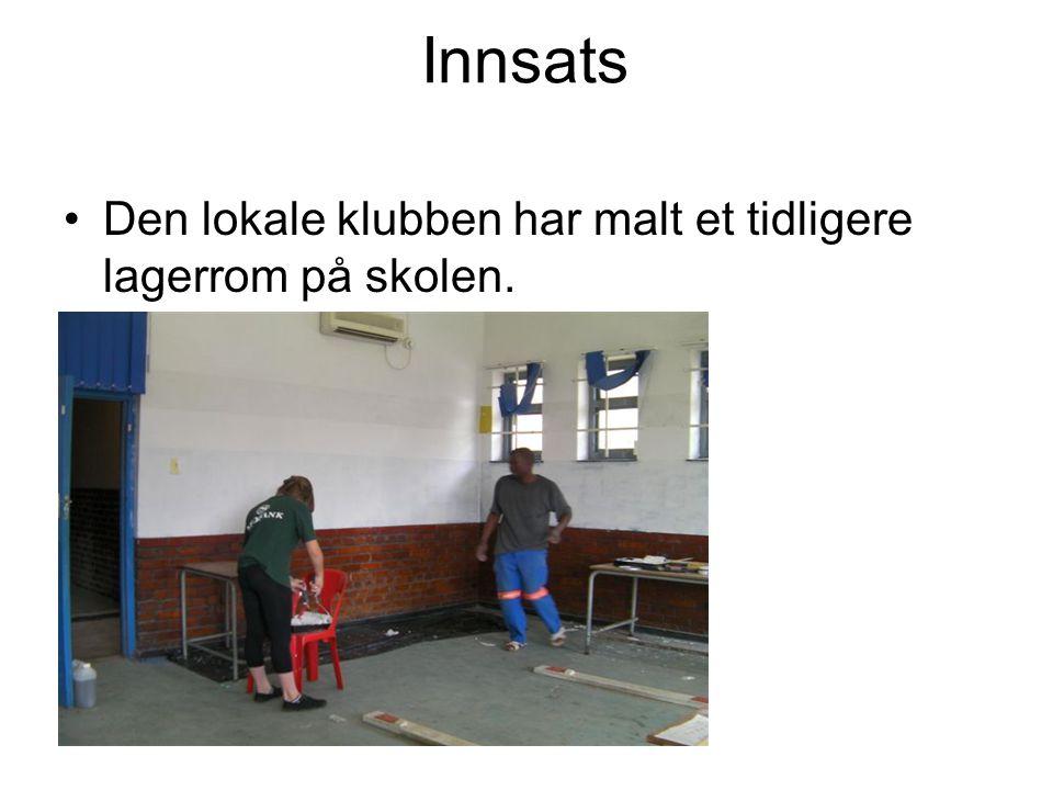 Innsats Den lokale klubben har malt et tidligere lagerrom på skolen.
