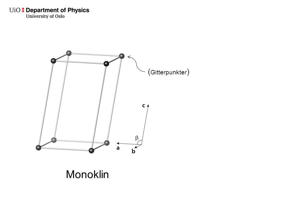Monoklin ( Gitterpunkter )