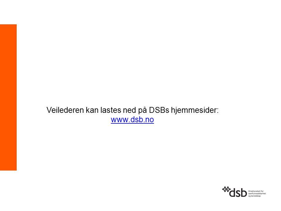 Veilederen kan lastes ned på DSBs hjemmesider: www.dsb.no www.dsb.no