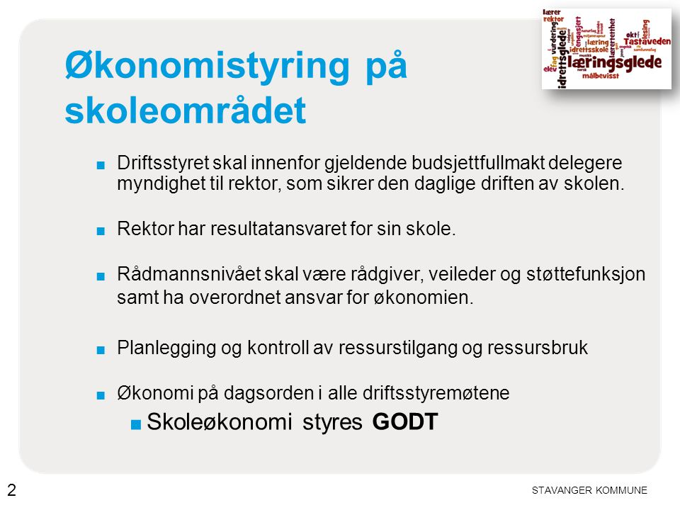 STAVANGER KOMMUNE Lønn (høst) Penger og timer 13