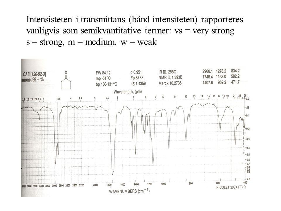 To typer molekylære vibrasjoner: bøy og strekk Strekk: rytmisk bevegelse langs bindingsaksen Bøy: forandring i bindings- vinkel