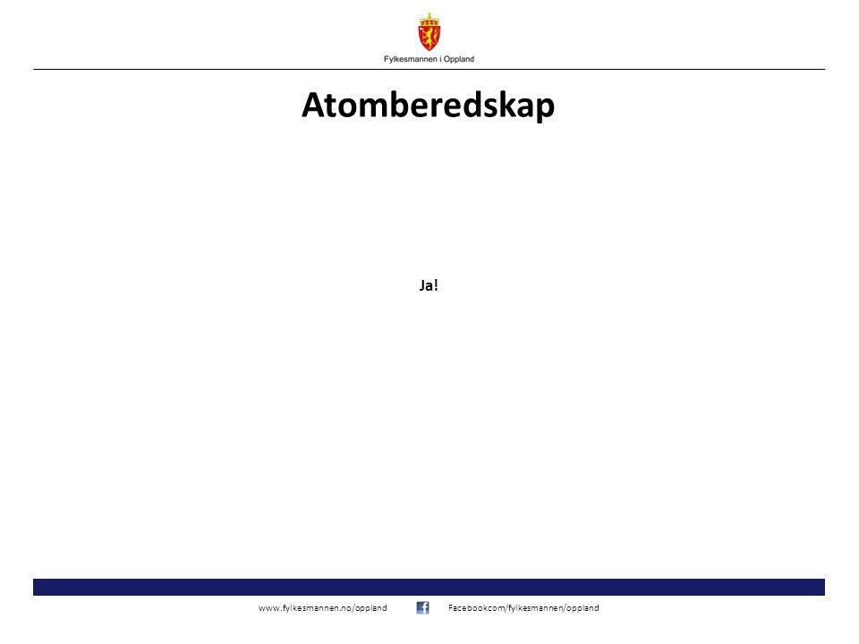 www.fylkesmannen.no/opplandFacebookcom/fylkesmannen/oppland Atomberedskap Ja!