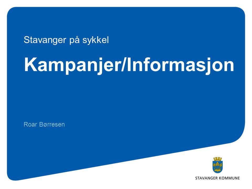 Kampanjer/Informasjon Roar Børresen Stavanger på sykkel